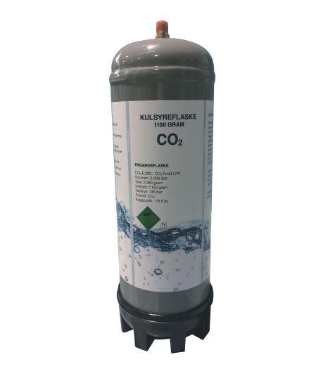 Kulsyreflaske - brus i vandet